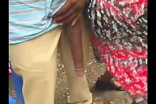 Huge! Big Black Dick Flash in Public Bus Stop