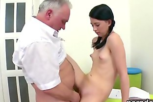 Fervid schoolgirl gets teased and plowed by her older teacher