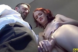 Mouth spermed fetish submissive gets belt
